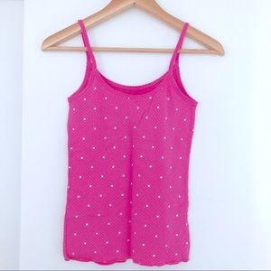 American Eagle Ribbed Cotton Camisole - Star Print